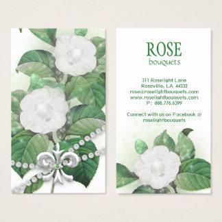 Cartão De Visitas A faísca cor-de-rosa da flor ilumina a flor de lis