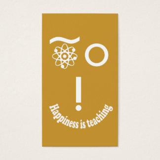 Cartão De Visitas A felicidade do professor de ciências está