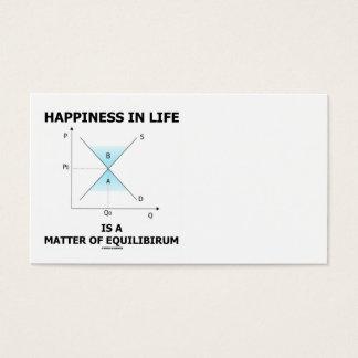 Cartão De Visitas A felicidade na vida é uma matéria do equilíbrio