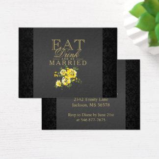 Cartão De Visitas A flor amarela come, bebida & seja casada -