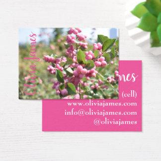 Cartão De Visitas A flor cor-de-rosa floresce foto da natureza da