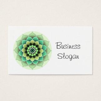 Cartão De Visitas A flor da mandala conecta com seu cliente