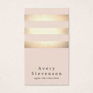 Cartão De Visitas A folha de ouro elegante do falso listrou a luz