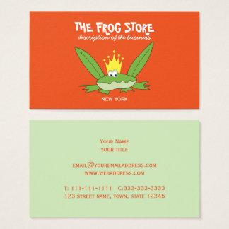 Cartão De Visitas A forma engraçada da loja do miúdo dos desenhos