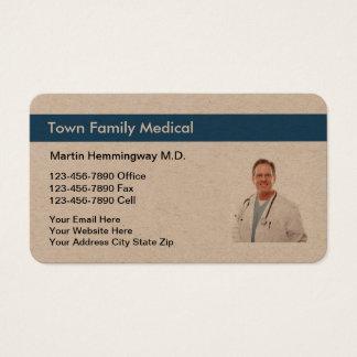 Cartão De Visitas A foto do médico de família substitui