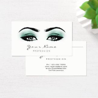 Cartão De Visitas A hortelã AquaMakeup verde chicoteia o branco