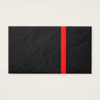 Cartão De Visitas A linha vermelha fina simbólica decoração