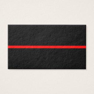 Cartão De Visitas A linha vermelha fina simbólica no preto contínuo