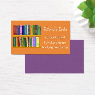 Cartão De Visitas A livraria das crianças dos livros de crianças