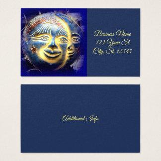 Cartão De Visitas a lua do sol stars o azul