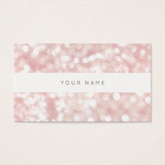 Cartão De Visitas A luz branca do pó do rosa Pastel cora efeito de