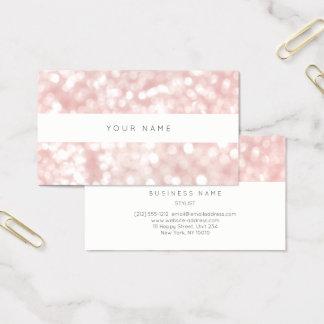 Cartão De Visitas A luz branca do pó do rosa Pastel cora pontos de