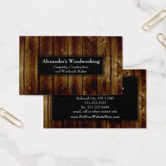 Cartão De Visitas A madeira vertical rústica embarca a construção da