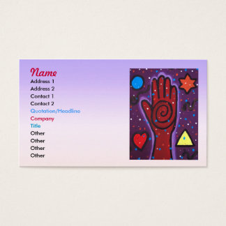 Cartão De Visitas A mão do curandeiro.