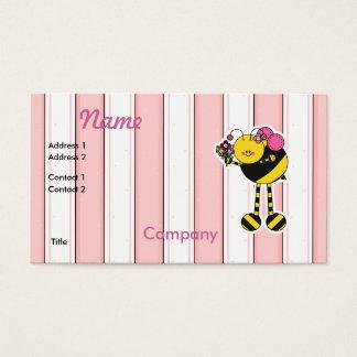 Cartão De Visitas A menina bonito Bumble a abelha