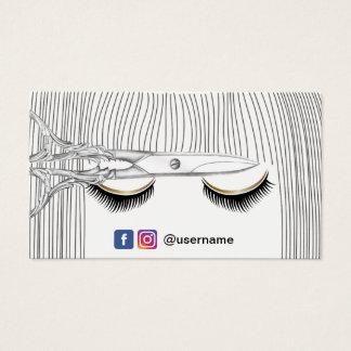 Cartão De Visitas A menina do cabeleireiro & Scissor meios do Social