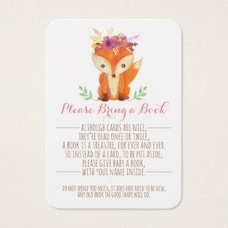 Cartão De Visitas A menina do chá de fraldas da floresta traz um