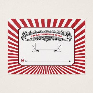 Cartão De Visitas A mesa # o lugar cardam o vermelho do circo