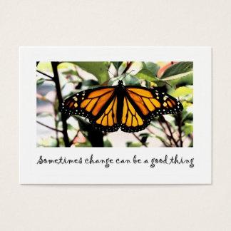 Cartão De Visitas a mudança da borboleta de monarca pode ser… boa