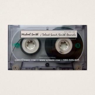 Cartão De Visitas A música da cassete de banda magnética grava