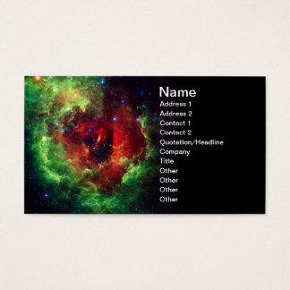 Cartão De Visitas A nebulosa cor-de-rosa do Rosette dos unicórnios