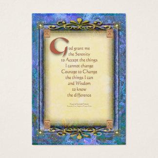 Cartão De Visitas A oração da serenidade iluminou 3