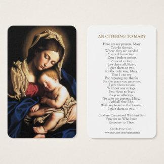 Cartão De Visitas A oração da Virgem Maria carda | Mary & bebê Jesus