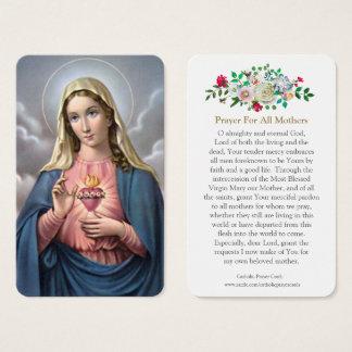 Cartão De Visitas A oração da Virgem Maria carda o coração sagrado 2