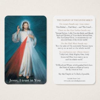 Cartão De Visitas A oração de Jesus carda o Chaplet de | do