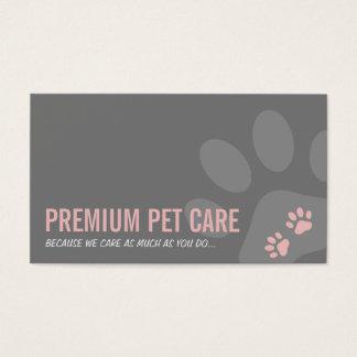 Cartão De Visitas A PATA PROFISSIONAL IMPRIME cinzas cor-de-rosa