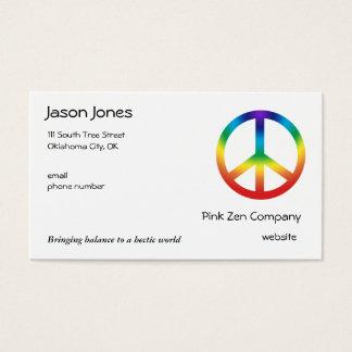 Cartão De Visitas A paz assina dentro cores de Chakra