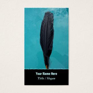 Cartão De Visitas A pena do corvo