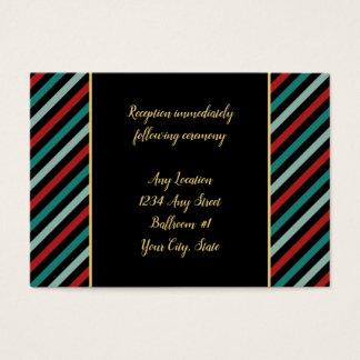 Cartão De Visitas A poinsétia do feriado listra a recepção de