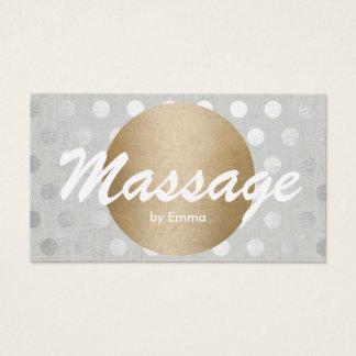 Cartão De Visitas A prata do círculo do ouro da terapia da massagem