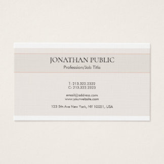 Cartão De Visitas A prata elegante minimalista na moda colore o luxo