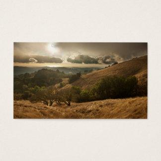 Cartão De Visitas A primeira chuva da estação em Califórnia litoral
