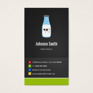 Cartão De Visitas A produção de leite entrega - inovativo criativo