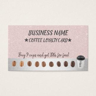 Cartão De Visitas A recompensa da lealdade do café carda elegante
