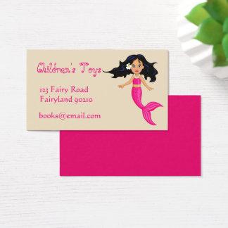 Cartão De Visitas A sereia caçoa brinquedos em linha e registra o