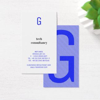 Cartão De Visitas A tipografia baseou o azul