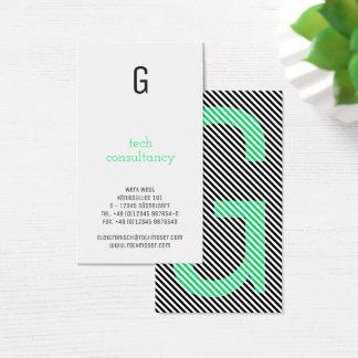 Cartão De Visitas A tipografia baseou o verde