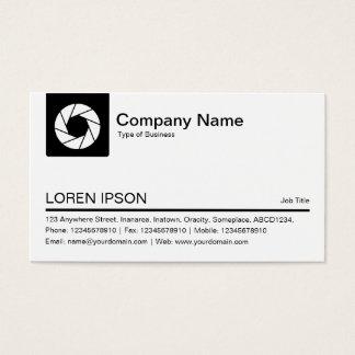 Cartão De Visitas Aba da cor - símbolo branco da abertura - preto