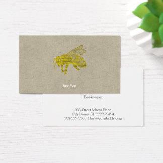 Cartão De Visitas Abelha da tipografia