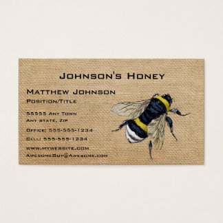 Cartão De Visitas Abelha do mel de serapilheira