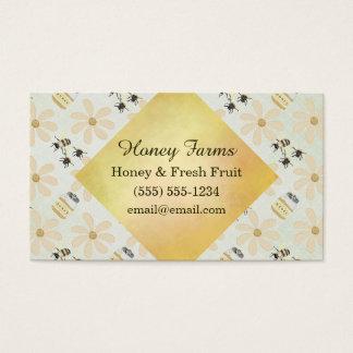 Cartão De Visitas Abelha e flor do mel