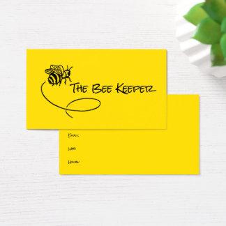 Cartão De Visitas Abelhas doces do vôo do fundo amarelo brilhante da