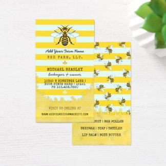 Cartão De Visitas Abelhas e listras da fazenda da abelha do Apiary