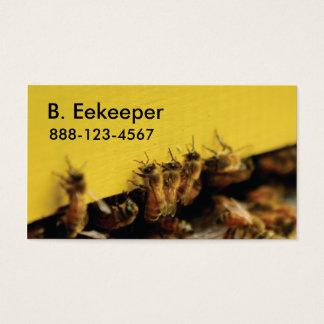 Cartão De Visitas abelhas na colmeia amarela