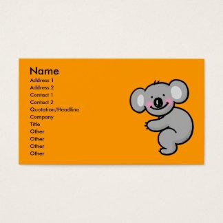 Cartão De Visitas Abraçando o urso de Koala