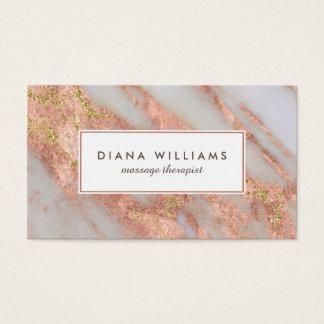 Cartão De Visitas Abstrato cor-de-rosa do mármore Sparkling